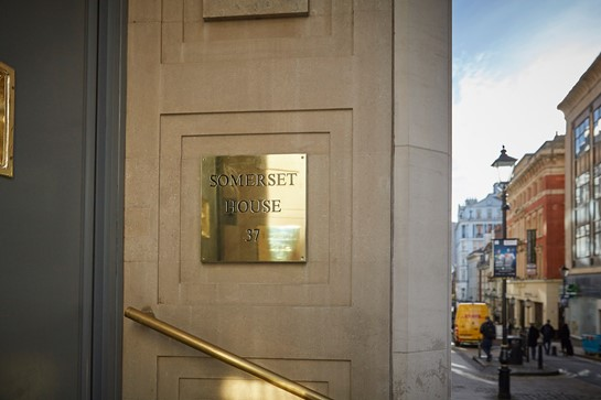 Somerset House Name Plate
